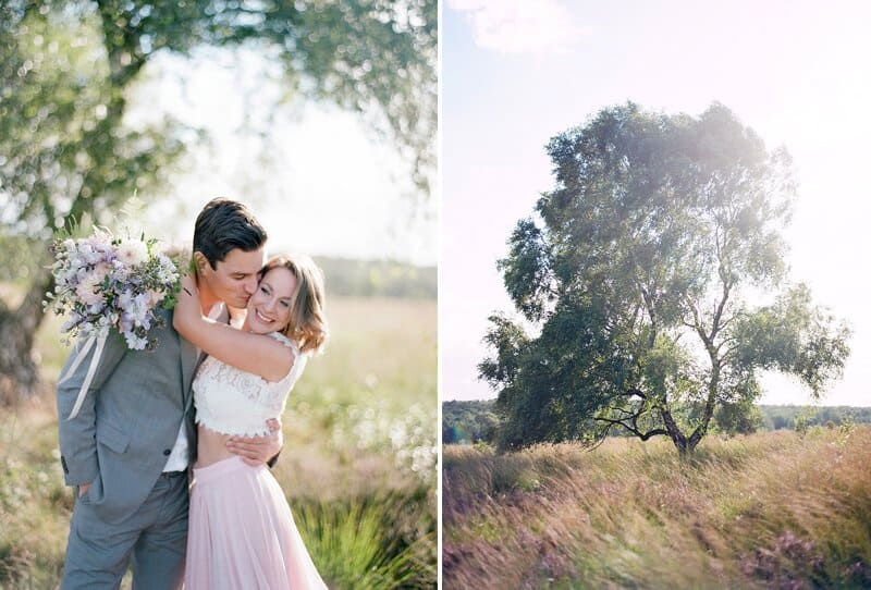 Love in Purple Heather Fields by Audra Wrisley Photography