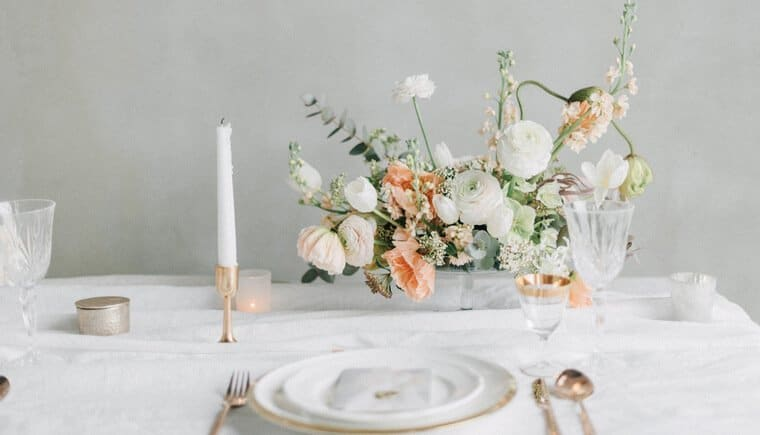 Peach and White Wedding Dream by Gabriela Jarkovska