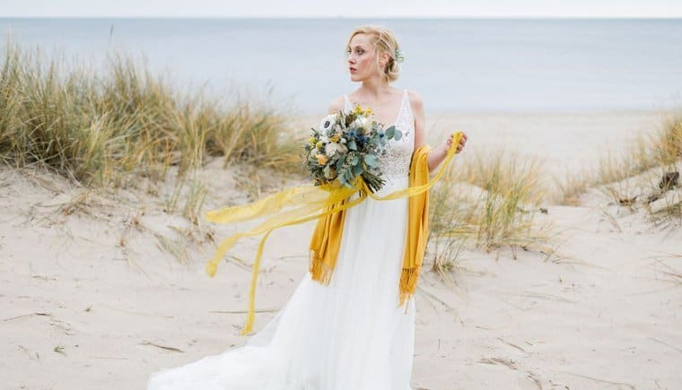 Beach Inspirations with Mustard Yellow Tones by Michaela Brandl