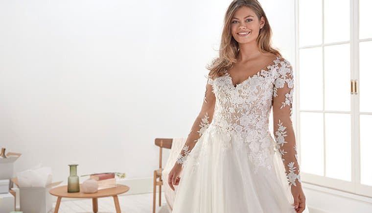 White One Bridal for graceful Plus Size Brides
