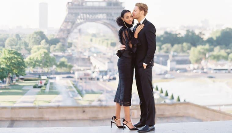 Engagement session over the rooftops of Paris by Donny Zavala Photography