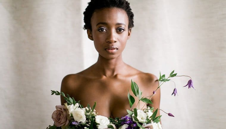 Floral Bridal Boudoir Editorial by Christina Bernales Photography