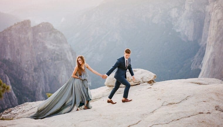 Impressive Elopement Backdrop by Clay Austin Photography