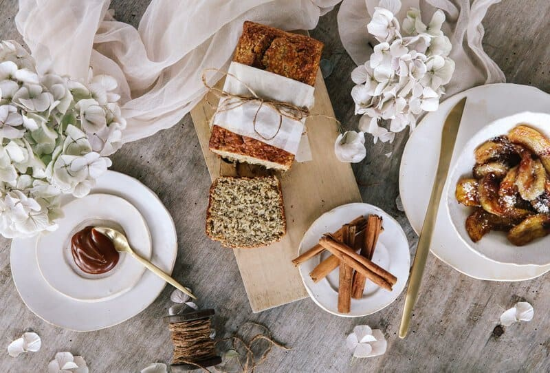 Banana Bread with Caramelized Bananas by Comme Soie