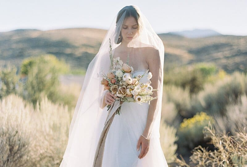 Graceful Desert Bridal Inspirations in soft colors by Sara Weir Photography