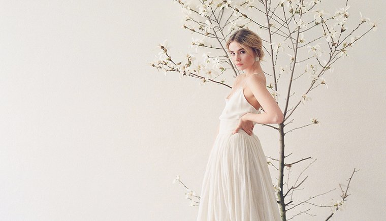 Clean and modern Spring Wedding Inspirations by Fine Moments and Melanie Nedelko
