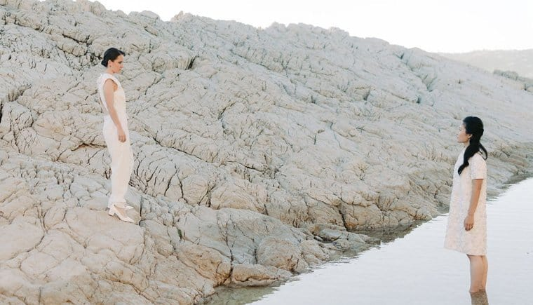 Two Brides like Yin and Yang by LindaChampenois and Jeremy Froeliger